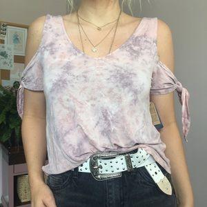 American Eagle Soft & Sexy Pastel Tie Dye Tee SM